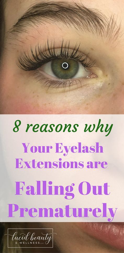 8 Reasons Why Your Eyelash Extensions May Be Falling Out Prematurely