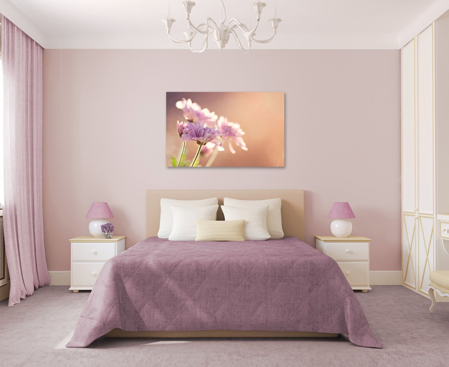 purple and orange bedroom paint by www a v. Black Bedroom Furniture Sets. Home Design Ideas