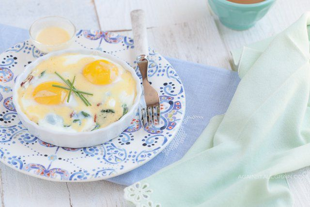 Photo of You may remember my last baked eggs recipe with sausage and a cheesy (but cheese…