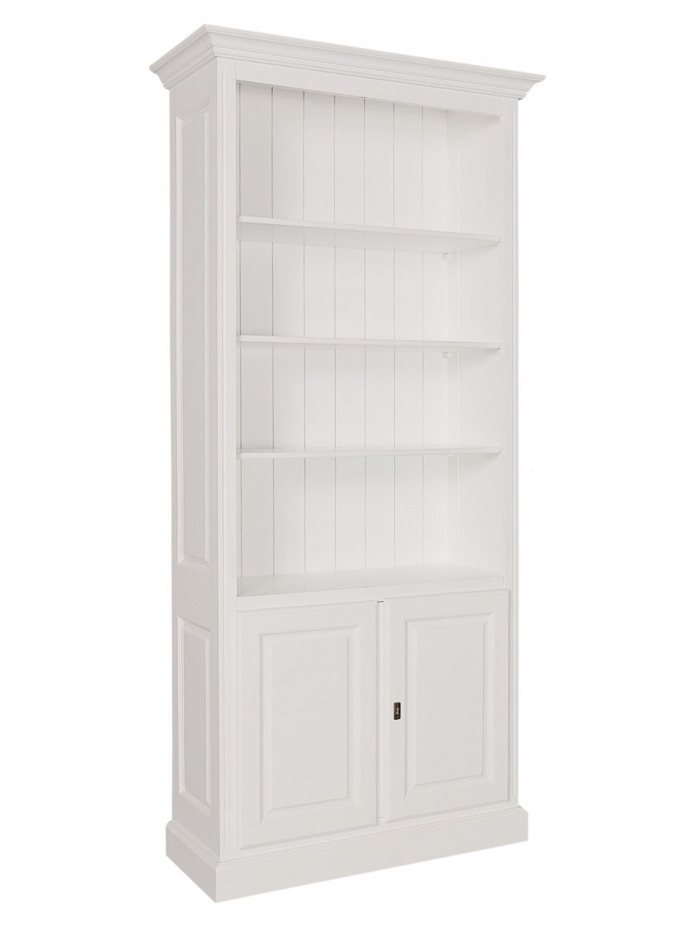 Bücherschrank weiß, Schrank weiß Landhaus, Breite 101 cm