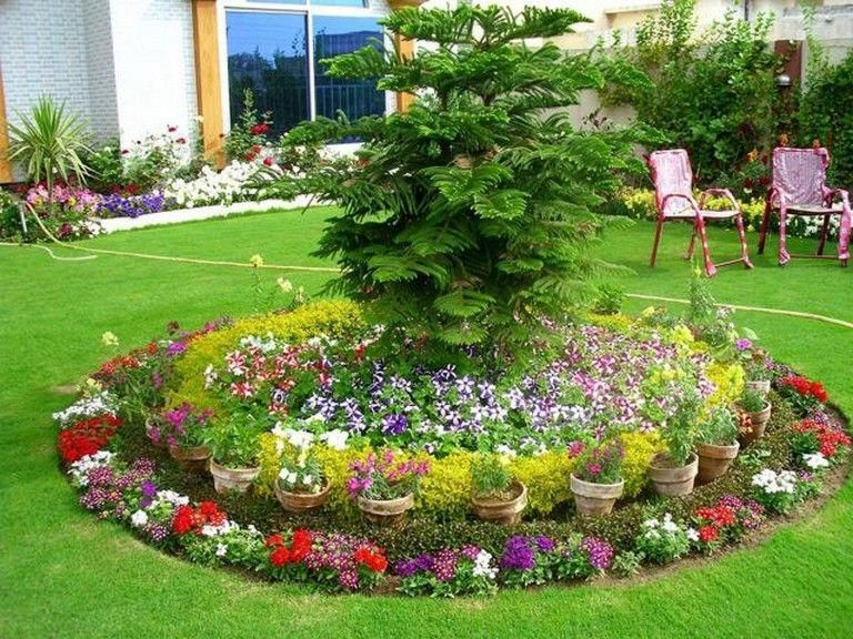 20 Simple Flower Bed Design Ideas For Front Lansdcape #design #ideas  #landscape