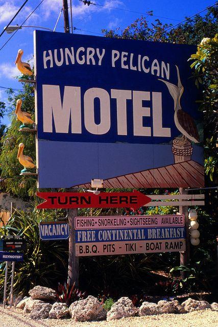 Hungry Pelican Motel Key Largo Fl 1999 Vintage Road