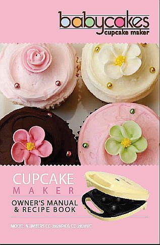 babycakes mini cupcake maker instruction manual babycakes maker rh pinterest com User Manual PDF babycakes instruction manual