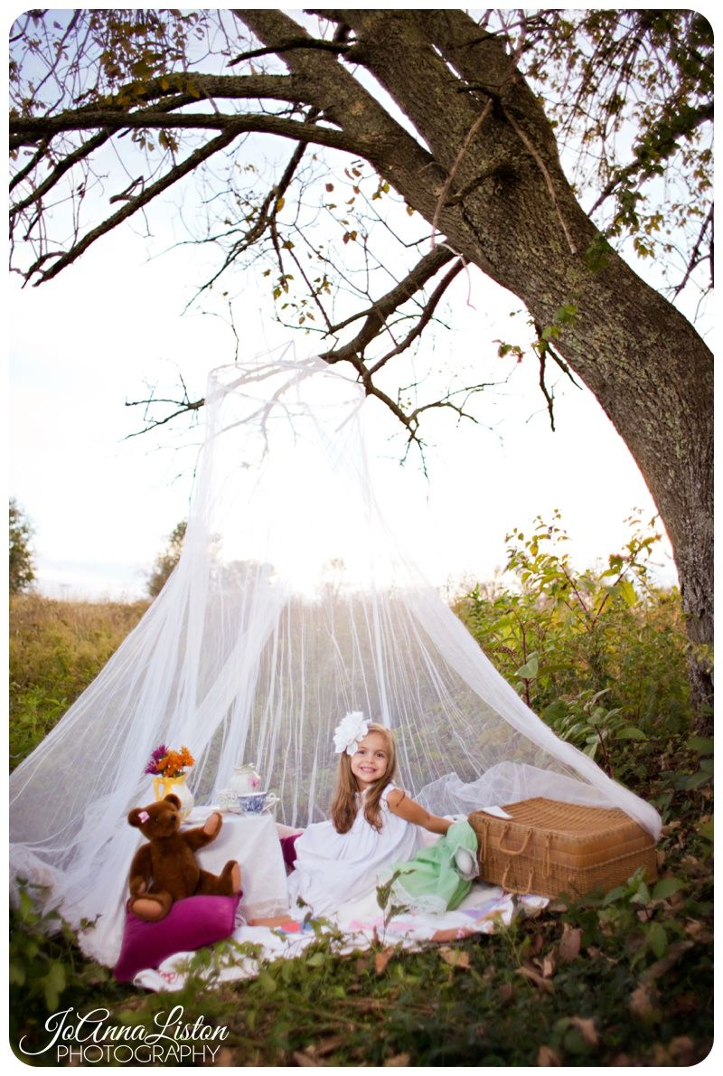 Outdoor Tea Party Theme Photo Shoot Little Girl Ideas Lexington KY Photographer