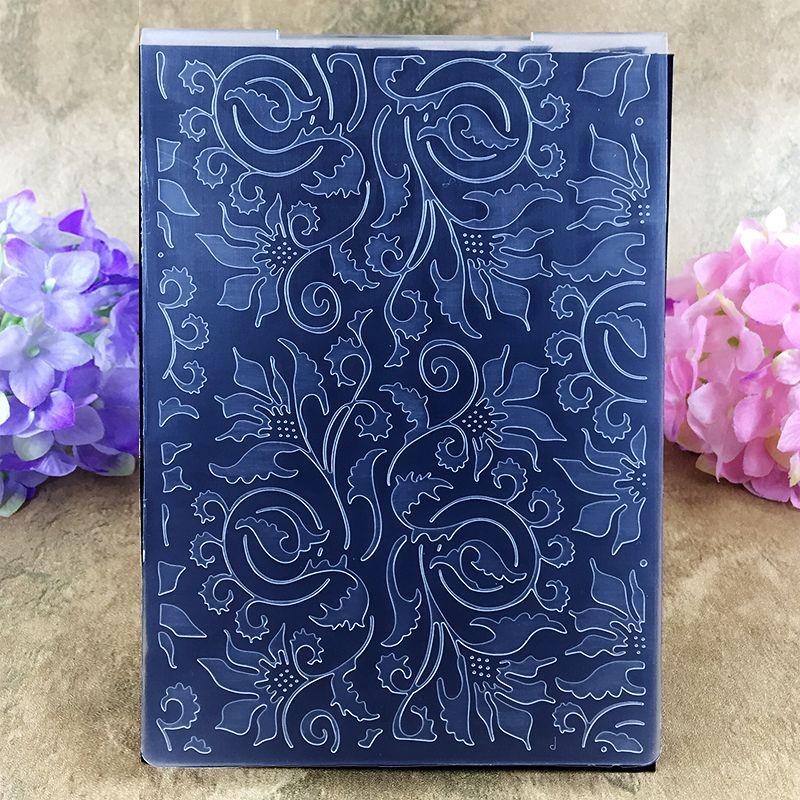 Leaves Background Plastic Embossing Folder for Scrapbook DIY Album Card Tool Plastic Template Folders