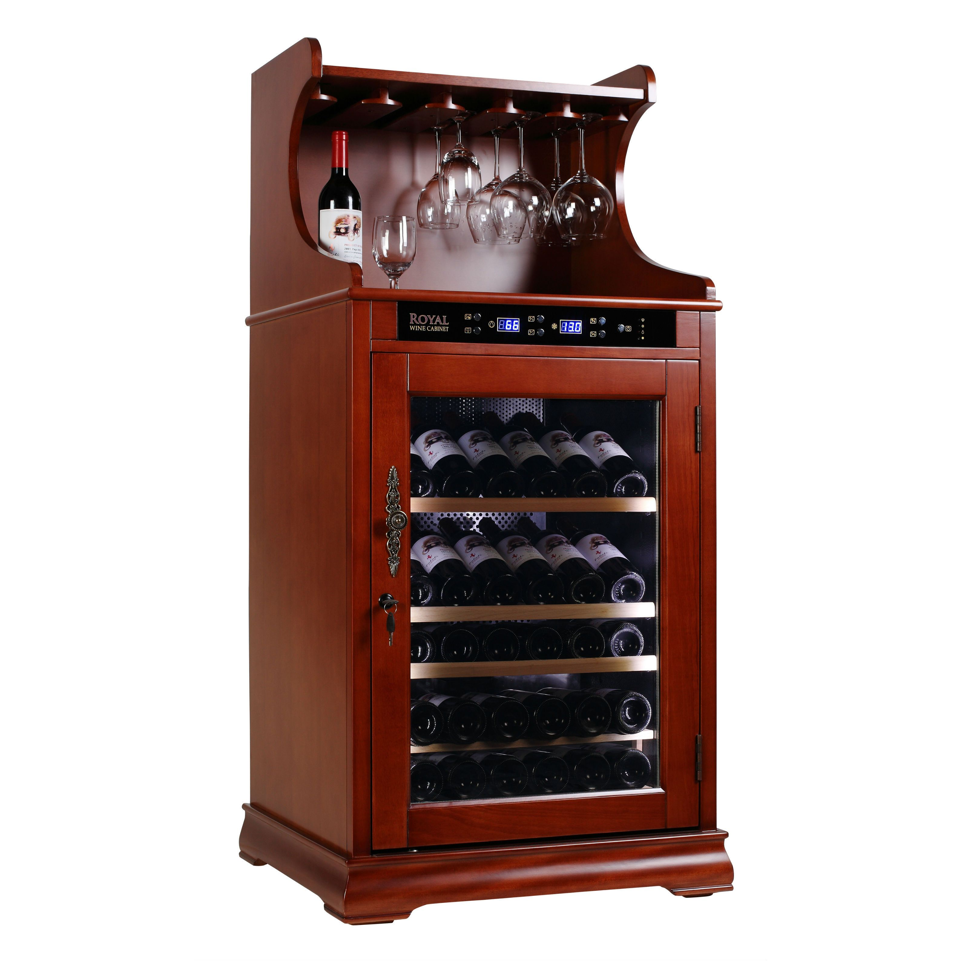 royal cave 138e 72 bottle constant temperature wine cellar cabinet and rack wine cellars and. Black Bedroom Furniture Sets. Home Design Ideas