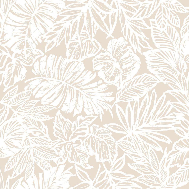 Roommates Decor Tropical Leaf Tan Peel And Stick Wallpaper Rmk11199rl Bellacor Peel And Stick Wallpaper Wallpaper Tropical Leaves
