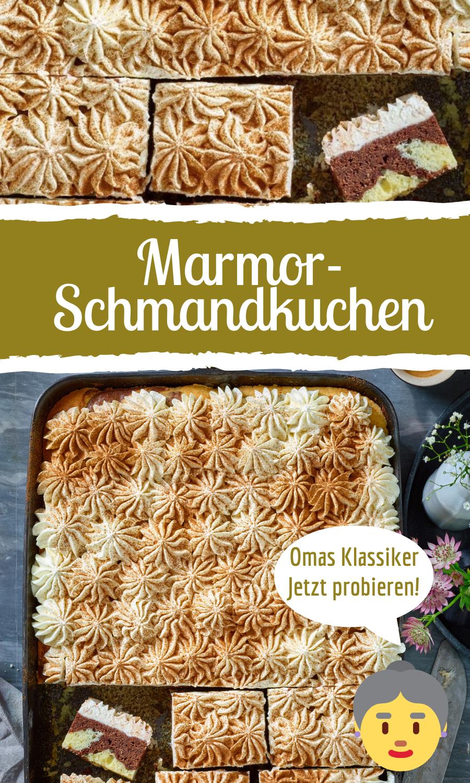 Luftiger Marmor-Schmand-Kuchen
