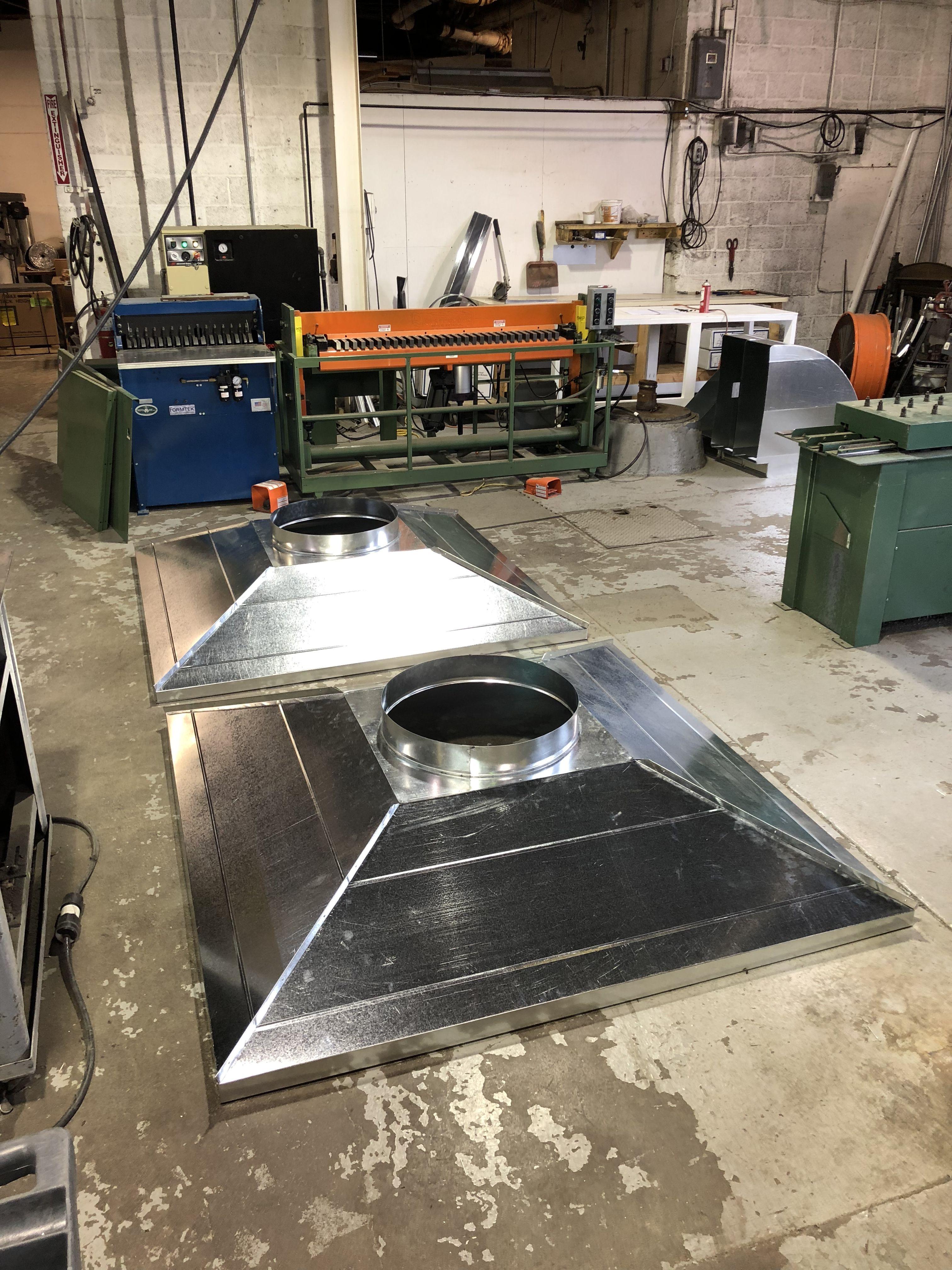 Standing Sean Exhaust Hoods K E Sheet Metal Sheet Metal Fabrication Exhaust Hood Heating And Air Conditioning
