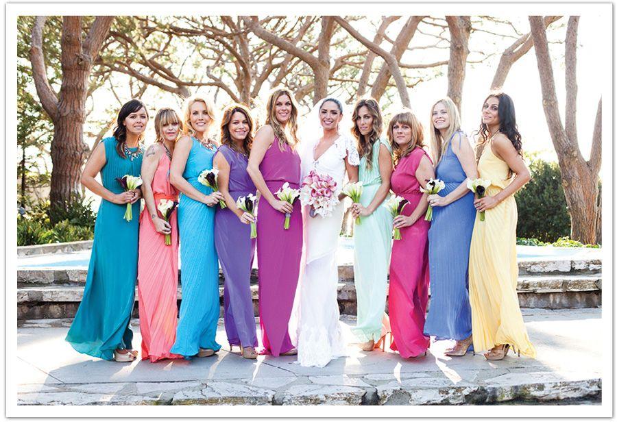 Colorful Bridesmaids Dresses - Ocodea.com