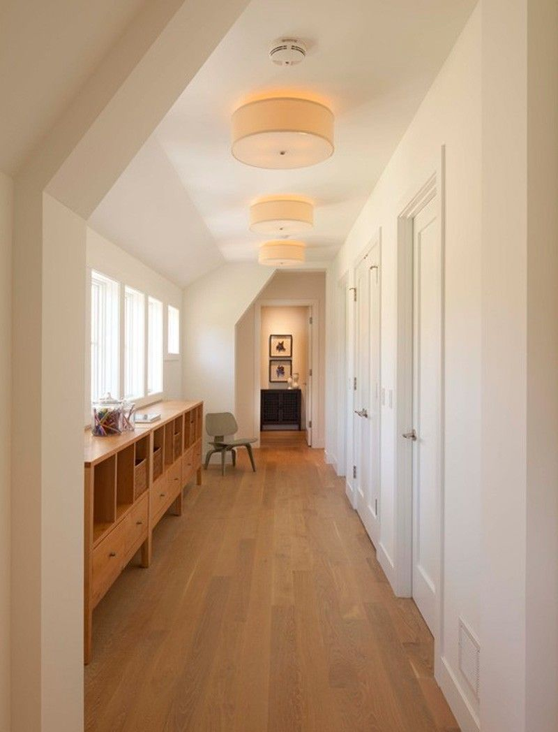 best hallway lighting. Simple Tips To Choose Best Hallway Ceiling Light: Terrific Decorating Ideas With Wooden Book Cabinets And Light Fixture Also Wood Laminate Lighting