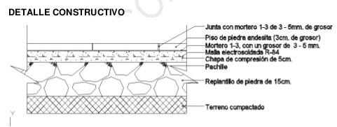 Resultado de imagen para detalle piso acabado de piedra for Piso tecnico detalle