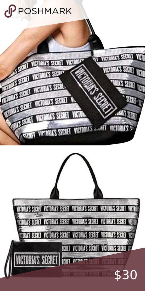 Victoria S Secret Black Friday Tote Small Zip Bag In 2020 Victoria Secret Victoria Secret Black Friday Zipped Bag