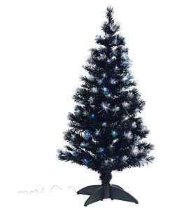black fibre optic christmas tree 4ft