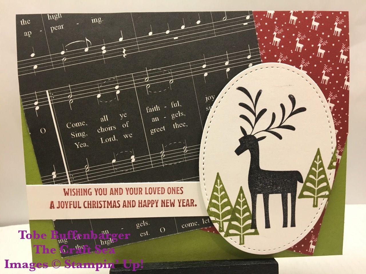 Stamps: Merry Mistletoe Inks: Basic Black; Cherry Cobbler