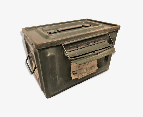 Caisse Metal A Munition Vintage Caisse Metal Caisse Caisse Rangement
