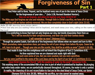 They follow the Lamb wherever he goes: Forgiveness of Sin - Part 1