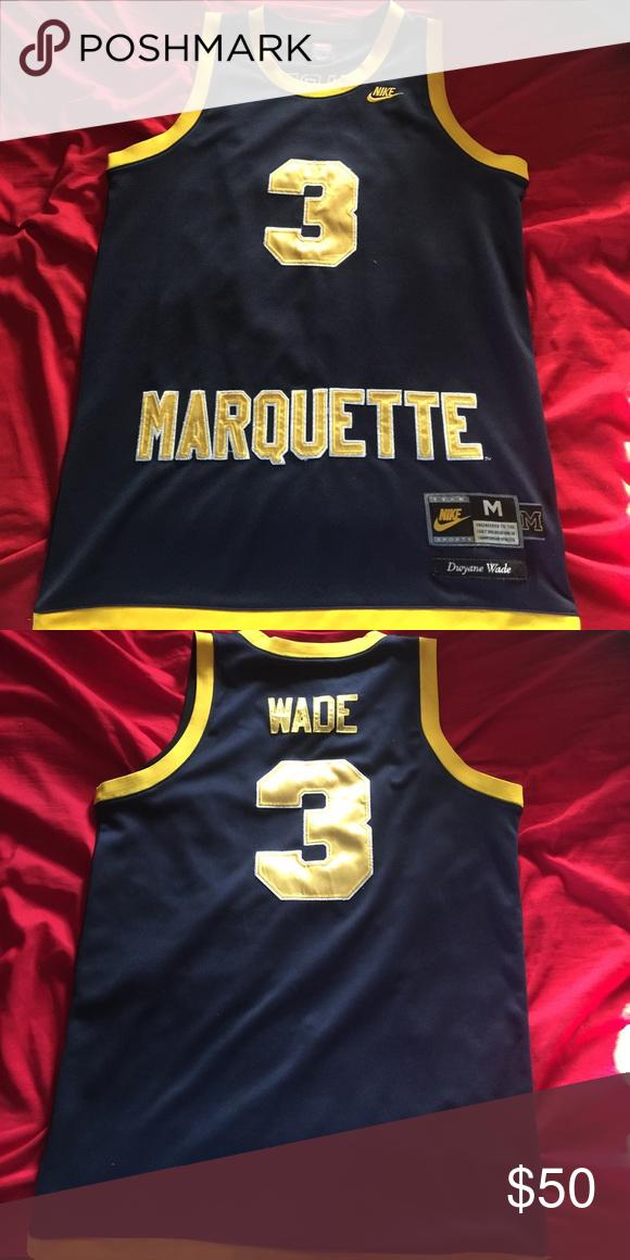 meet b6dac a24a5 Dwyane Wade Marquette Jersey Dwyane Wade College Jersey ...