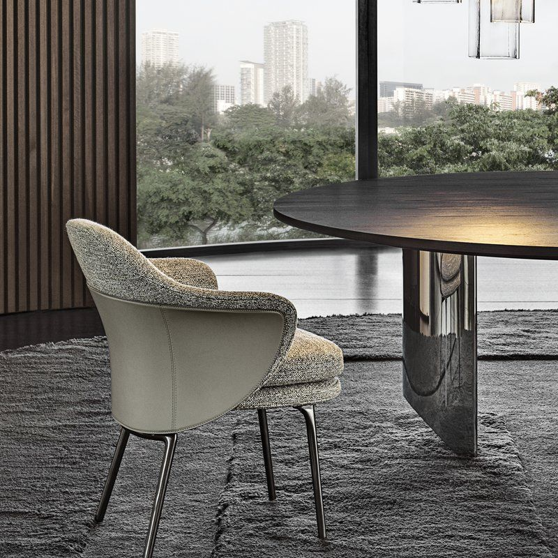 Angie Dining Chair By Minotti Ecc Dining Chairs Furniture Dining Chairs Comfortable Dining Chairs