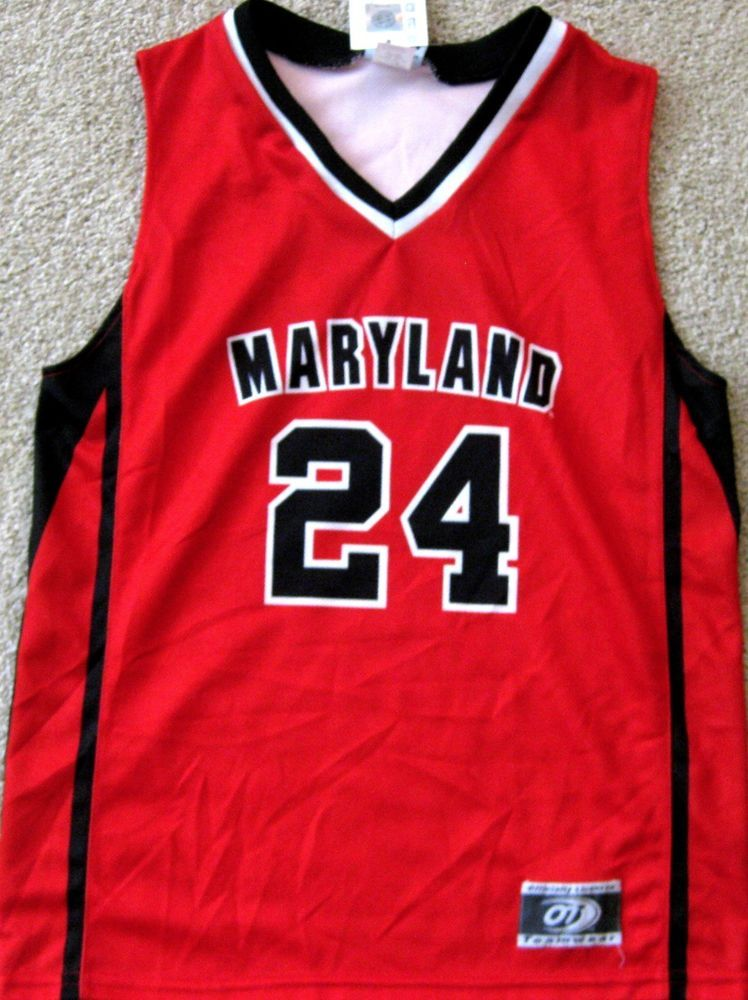 2eb1276c376 MARYLAND TERRAPINS MEN'S NCAA BASKETBALL JERSEY #24 MENS EXTRA LARGE NEW  W/TAGS! | eBay
