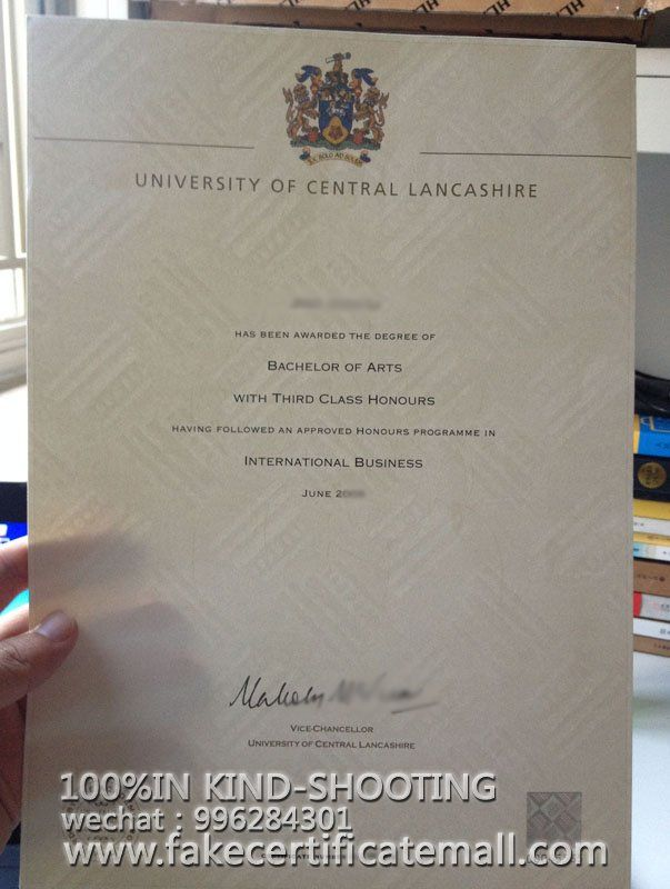 How to get a UCLan degree certificate?-Fake Diplomas,College Fake