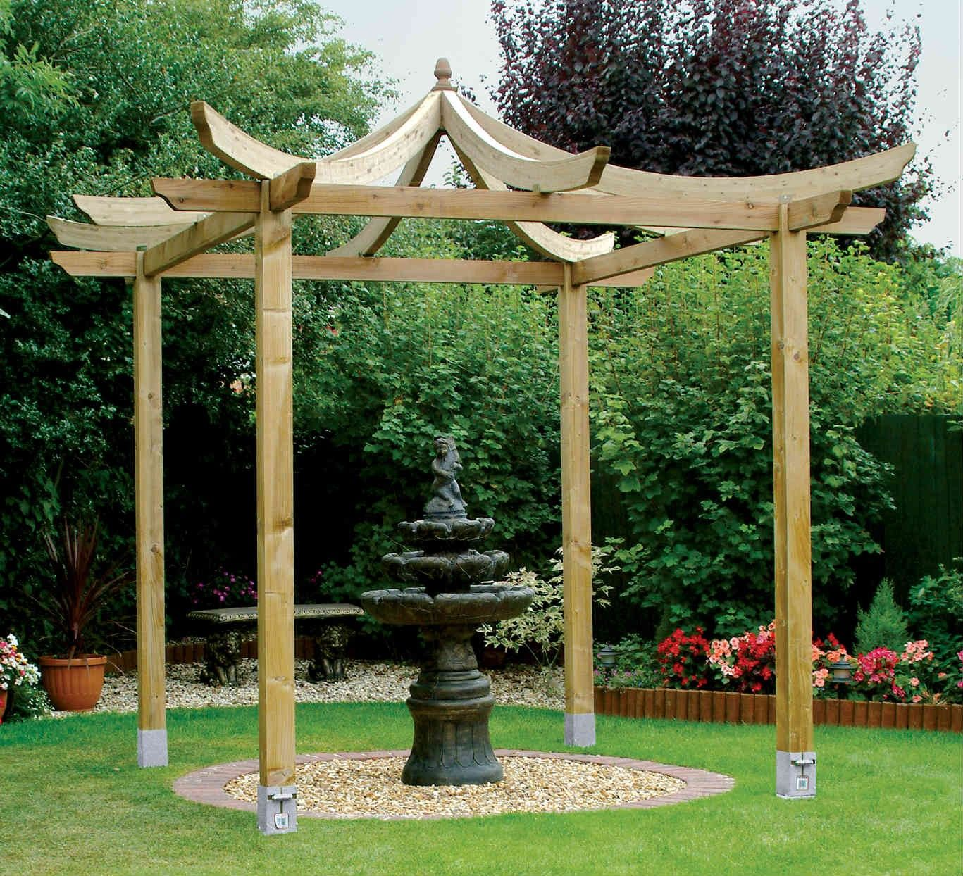 be inspired by the japanese pergola kit from grange and. Black Bedroom Furniture Sets. Home Design Ideas