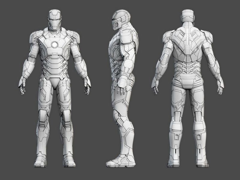 Iron Man Rigged 3d model 3ds Max,Object files free download