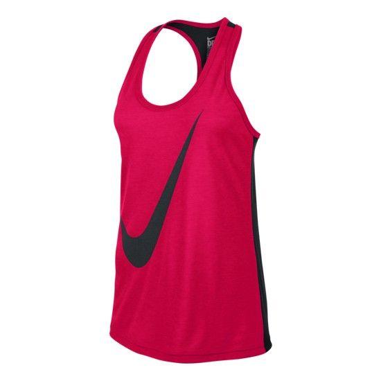 Camiseta de tirantes Nike Flow Swoosh Out DB Tank rojo mujer 18€ en  #deporvillage