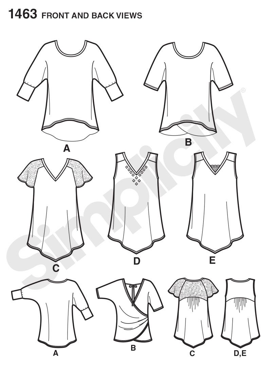 Simplicity Creative Group - Misses\' Knit Tops | moldes | Pinterest ...