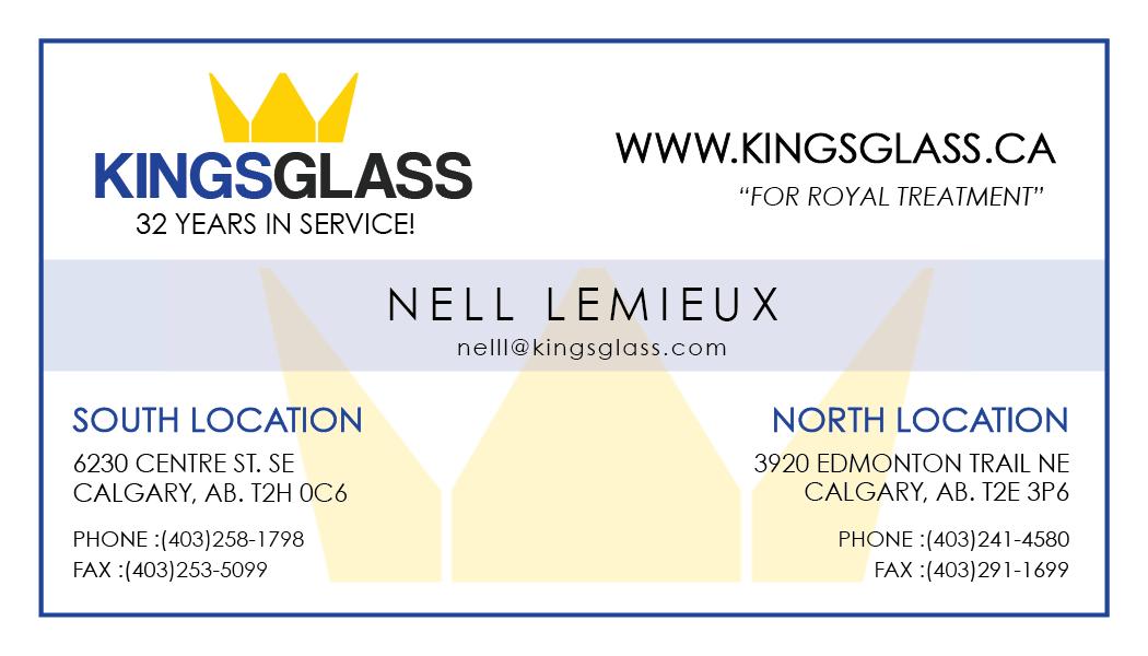 For royal treatment, call King's Glass http//kingsglass