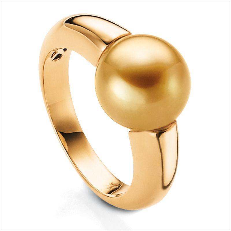 GO FOR GOLD Ring (Goldene Südsee Zuchtperle)   Zuchtperlen