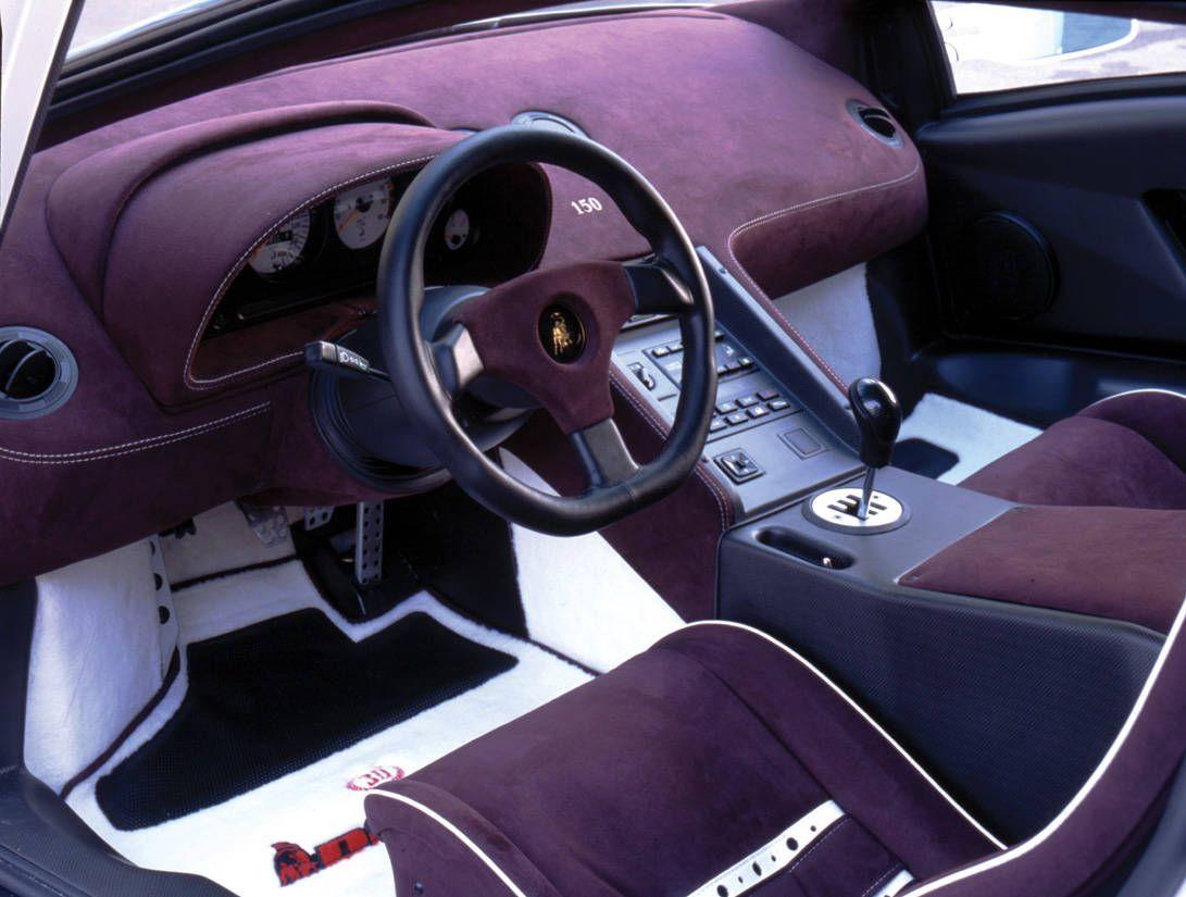 Lamborghini Diablo Interior In Purple Cortile Della Lamborghini