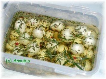 Eingelegtes - Eingelegter Mini-Mozzarella - Rezept