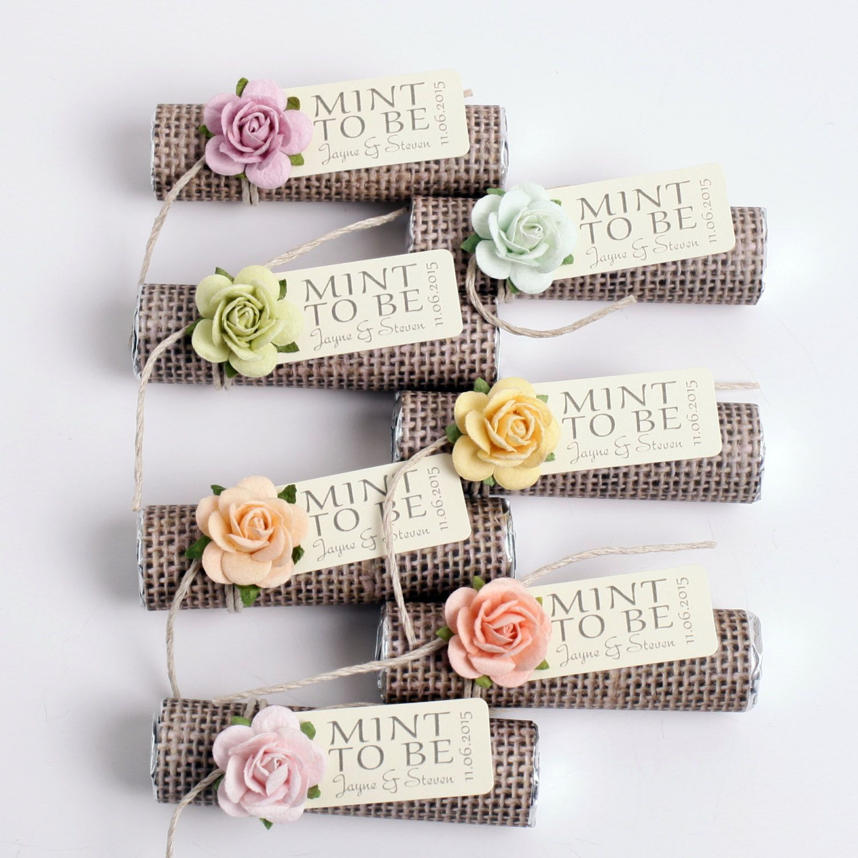 Mint wedding Favors - Set of 180 mint rolls - \