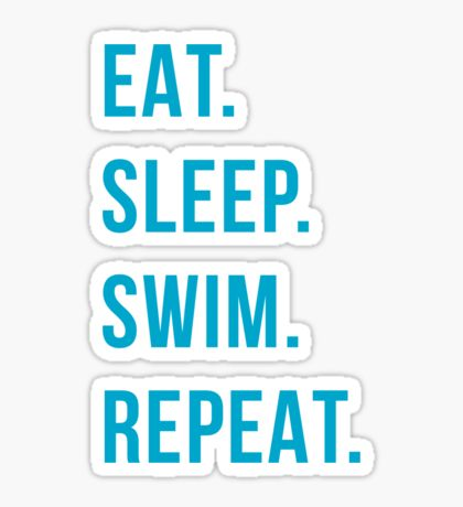 Swimming Stickers in 2020 Swimming, Stickers, Red bubble