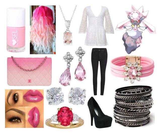 """""""#719 Diancie Theme"""" by kitty-styles-horan-biedka ❤ liked on Polyvore featuring beauty, Cheap Monday, Shourouk, Amrita Singh, Allurez, Tiffany & Co. and Chanel"""