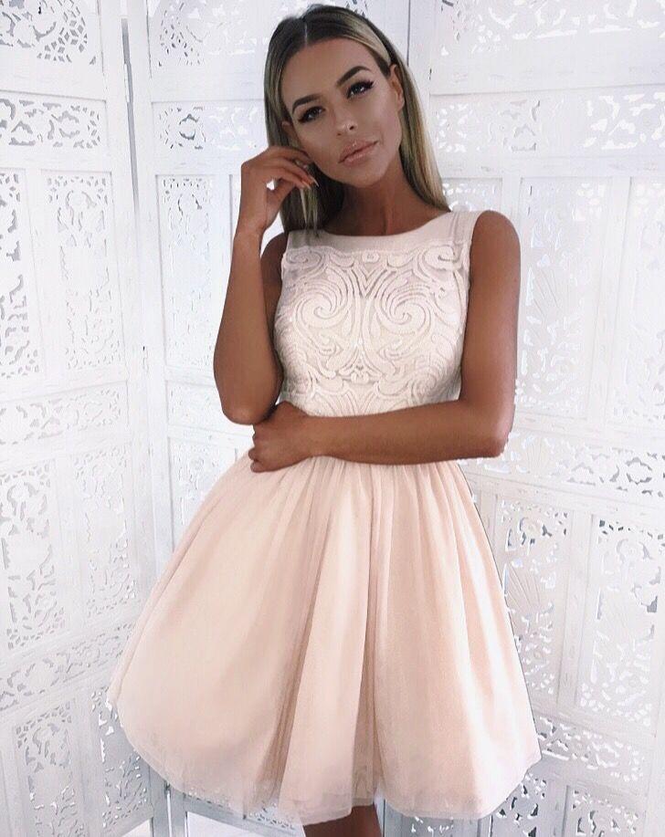6576f45e65 Tiulowa cielista sukienka na wesele  Tulle nude dress
