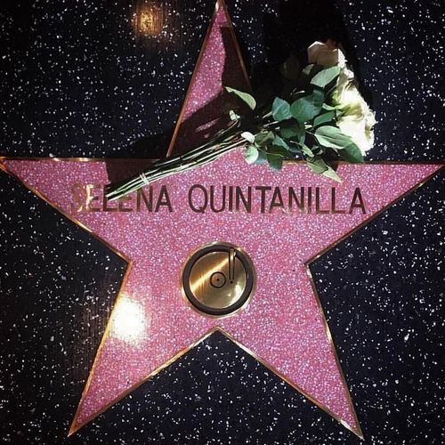 Selena Quintanilla on the Hollywood Walk of Fame