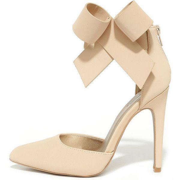 Nude Bow Heels | Fs Heel