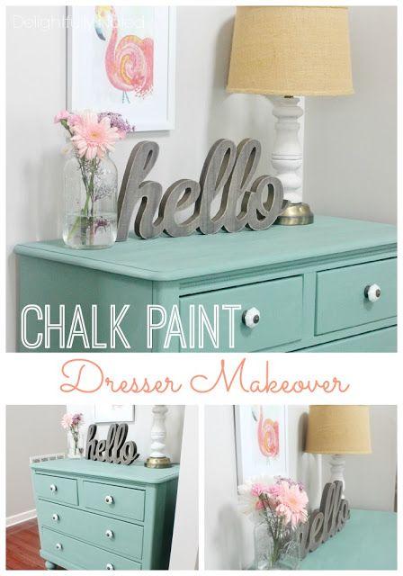 Dresser Makeover With Martha Stewartu0027s Vintage Decor Chalk Paint