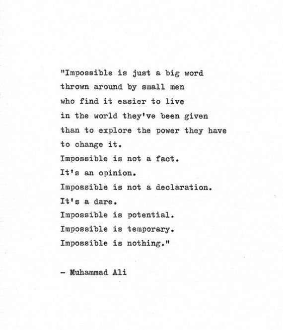 Muhammad Ali Inspirational Quote