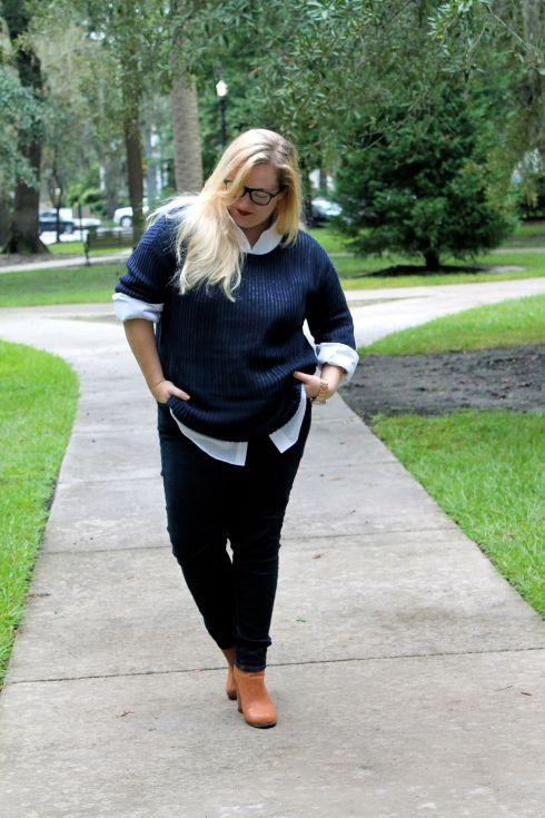 Sweaters + Oxford shirts | Becoming Bradshaw