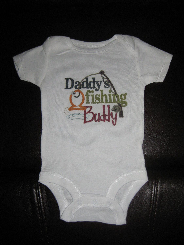 Custom Baby Onesie Daddys Fishing Buddy by weddingdecals