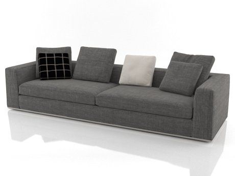 Powell Sofas 3d model by Design Connected Sofa, Design