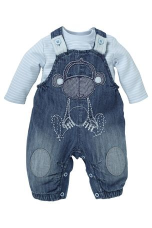 Buy Monkey Denim Dungarees (0 18mths) from the Next UK