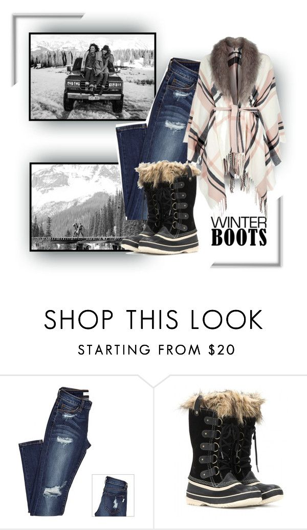 """""""Winter Boots"""" by poshtrish ❤ liked on Polyvore featuring SOREL, River Island and winterboots"""