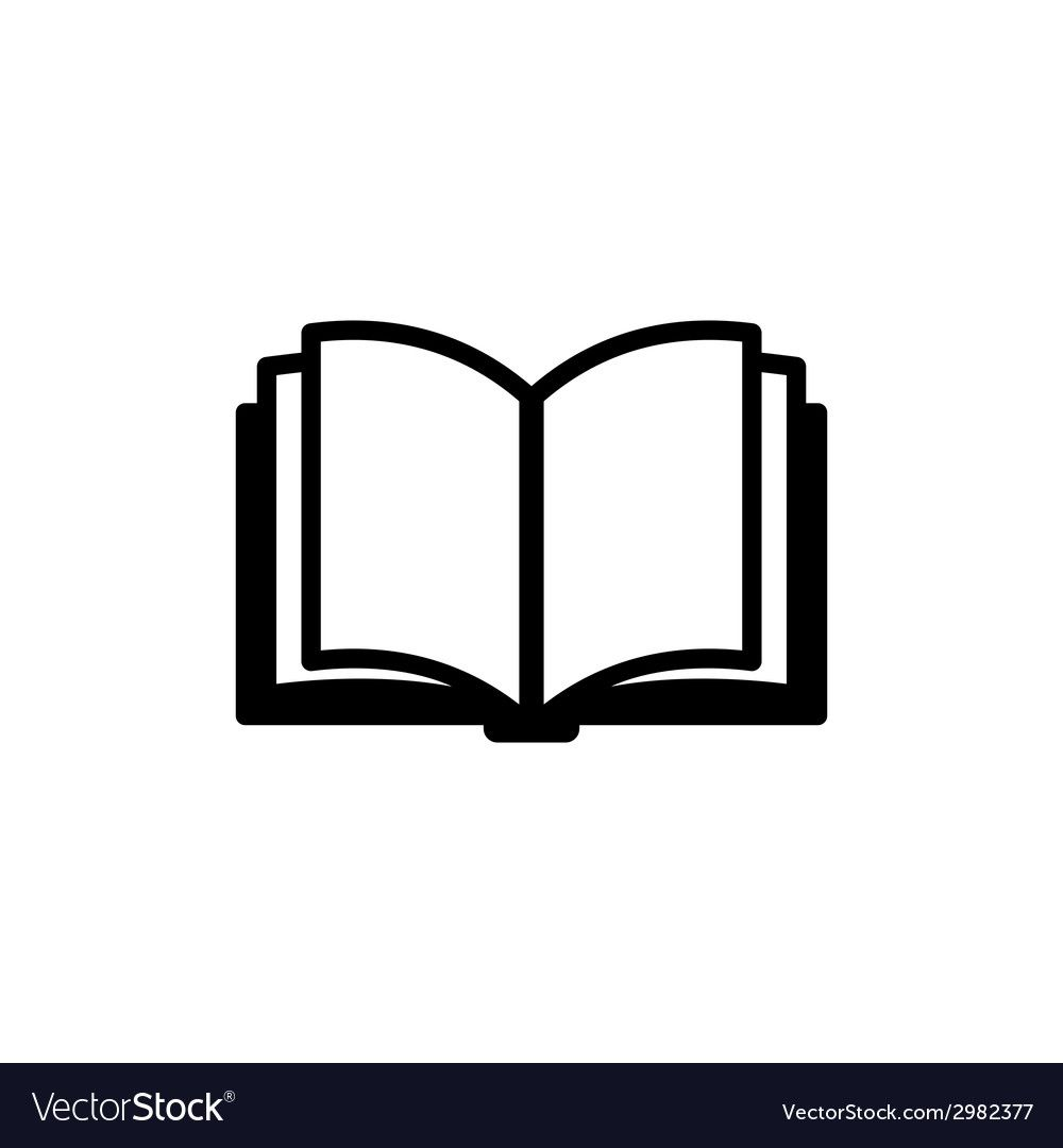 Book Icon Logo Vector Image On Vectorstock Book Icons Vector Logo Book Logo