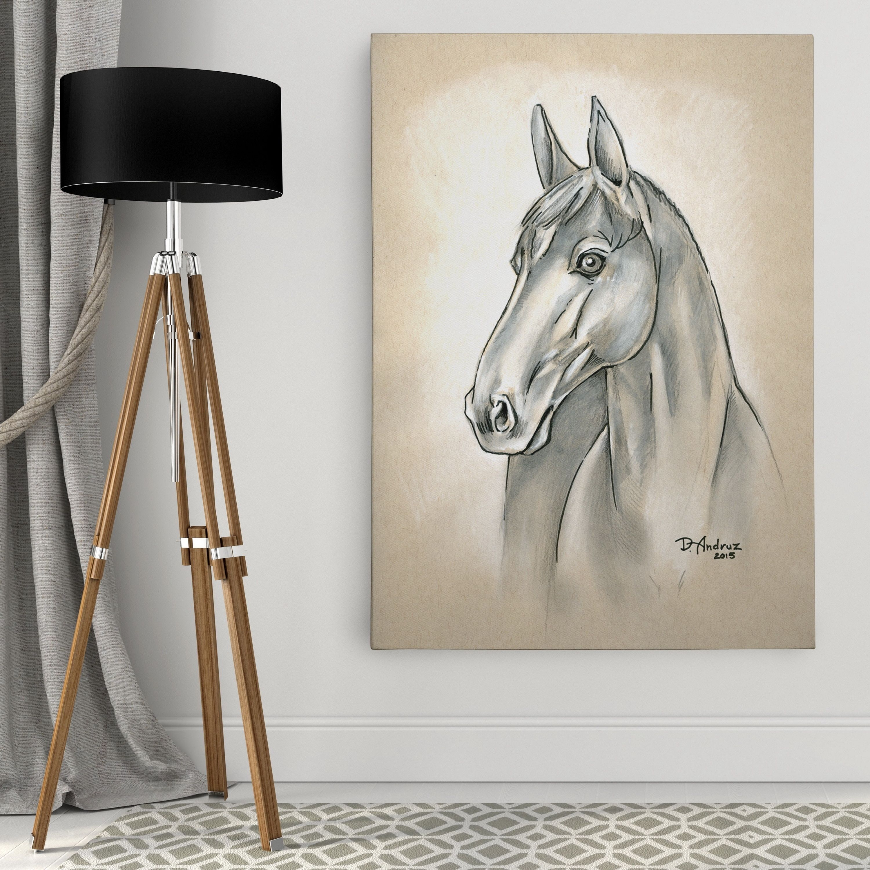 Wexford Home Equine Sketch III Wall Art On Canvas