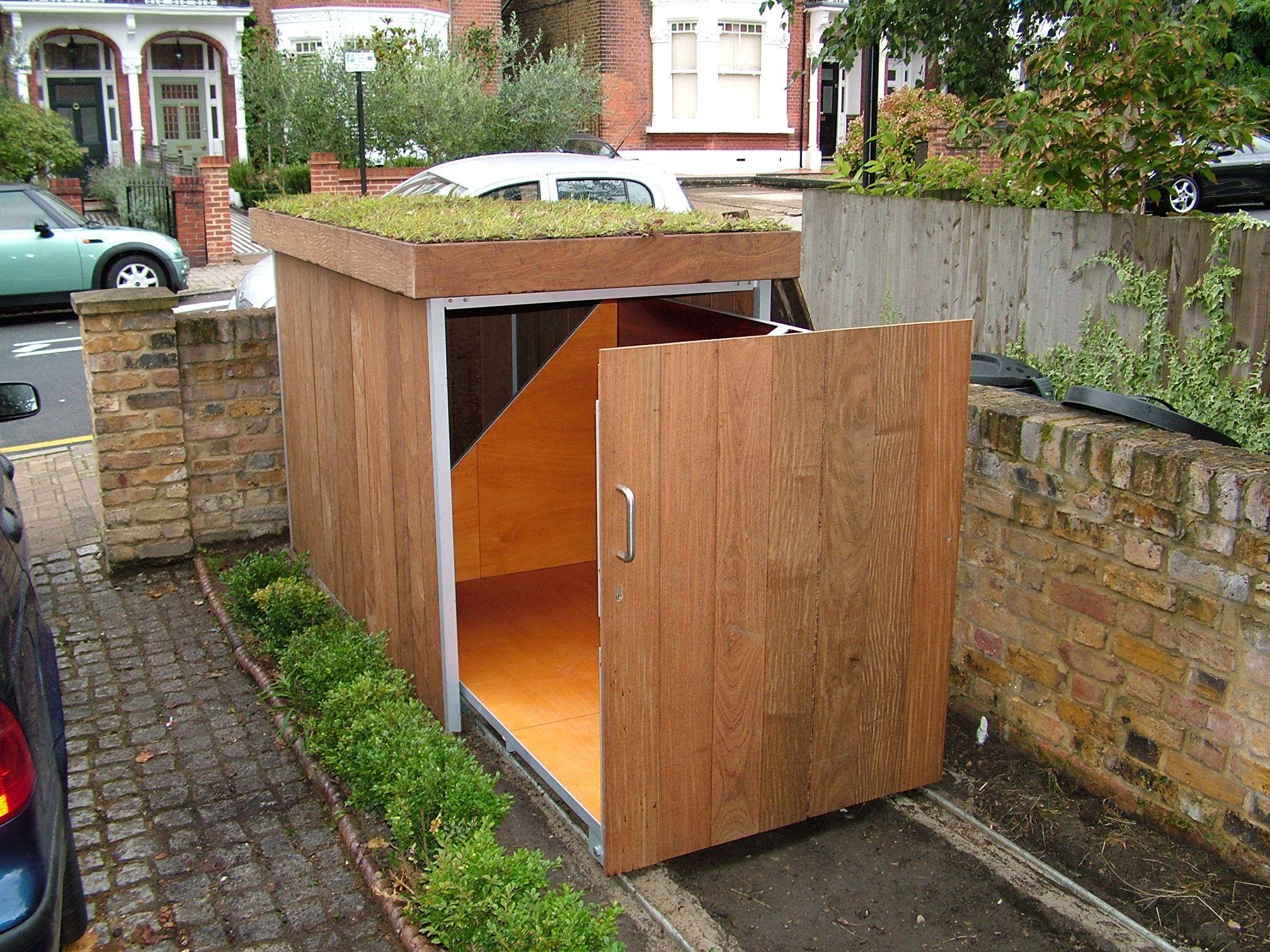 bike storage 1 garden pinterest m lltonne fahrradgarage und m lleimer. Black Bedroom Furniture Sets. Home Design Ideas