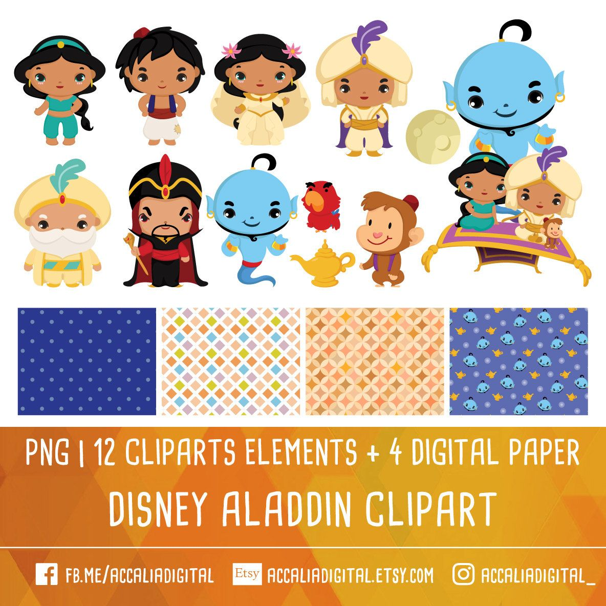 Aladdin Clip Art Prince Clipart Jasmine Clip Art Disney Etsy Clip Art Princess Sticker Aladdin
